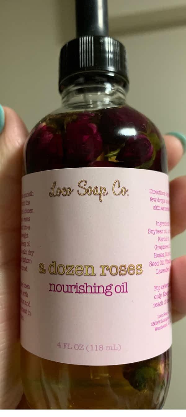 dry face remedy dozen roses nourishing oil